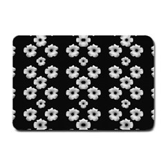 Dark Floral Small Doormat  by dflcprints