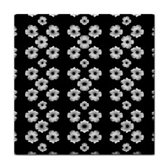Dark Floral Face Towel by dflcprints
