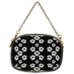 Dark Floral Chain Purses (one Side)  by dflcprints