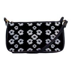 Dark Floral Shoulder Clutch Bags by dflcprints