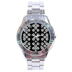 Dark Floral Stainless Steel Analogue Watch by dflcprints