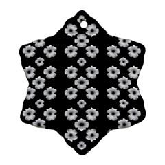 Dark Floral Ornament (snowflake) by dflcprints