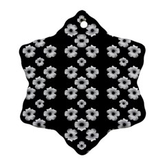 Dark Floral Snowflake Ornament (two Sides) by dflcprints