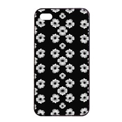 Dark Floral Apple Iphone 4/4s Seamless Case (black) by dflcprints