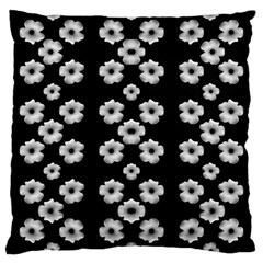 Dark Floral Large Cushion Case (two Sides) by dflcprints