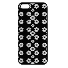 Dark Floral Apple Iphone 5 Seamless Case (black) by dflcprints