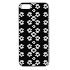 Dark Floral Apple Seamless Iphone 5 Case (clear) by dflcprints