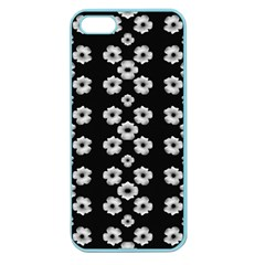 Dark Floral Apple Seamless Iphone 5 Case (color) by dflcprints