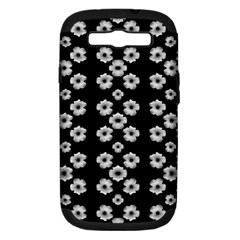 Dark Floral Samsung Galaxy S Iii Hardshell Case (pc+silicone) by dflcprints