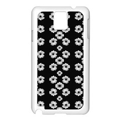 Dark Floral Samsung Galaxy Note 3 N9005 Case (white) by dflcprints
