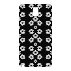 Dark Floral Samsung Galaxy Note 3 N9005 Hardshell Back Case by dflcprints