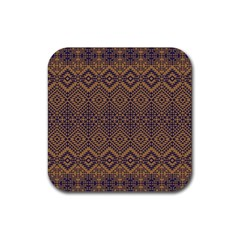 Aztec Pattern Rubber Square Coaster (4 Pack)  by Amaryn4rt