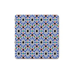 Background Pattern Geometric Square Magnet by Amaryn4rt