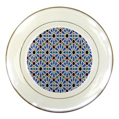 Background Pattern Geometric Porcelain Plates by Amaryn4rt