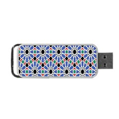 Background Pattern Geometric Portable Usb Flash (one Side)
