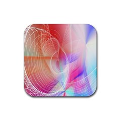 Background Nebulous Fog Rings Rubber Square Coaster (4 Pack)  by Amaryn4rt