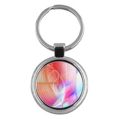 Background Nebulous Fog Rings Key Chains (round)  by Amaryn4rt