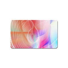 Background Nebulous Fog Rings Magnet (Name Card) by Amaryn4rt