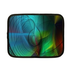Background Nebulous Fog Rings Netbook Case (small)  by Amaryn4rt