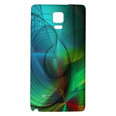 Background Nebulous Fog Rings Galaxy Note 4 Back Case by Amaryn4rt