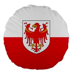 Flag Of South Tyrol Large 18  Premium Flano Round Cushions by abbeyz71