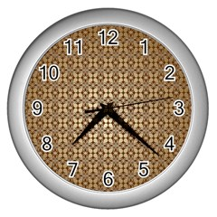 Background Seamless Repetition Wall Clocks (silver)  by Amaryn4rt