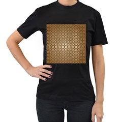 Background Seamless Repetition Women s T Shirt (black) (two Sided) by Amaryn4rt