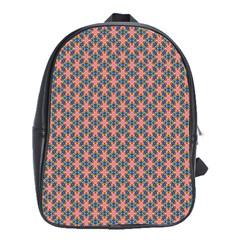 Background Pattern Texture School Bags (xl)