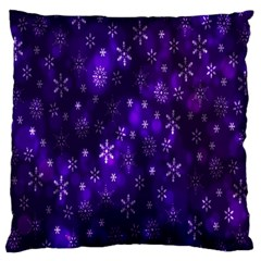Bokeh Background Texture Stars Large Cushion Case (one Side) by Amaryn4rt