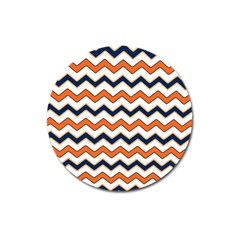 Chevron Party Pattern Stripes Magnet 3  (round) by Amaryn4rt