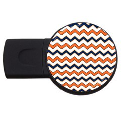 Chevron Party Pattern Stripes Usb Flash Drive Round (4 Gb) by Amaryn4rt