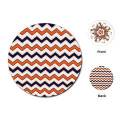 Chevron Party Pattern Stripes Playing Cards (round)