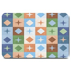 Fabric Textile Textures Cubes Large Doormat  by Amaryn4rt