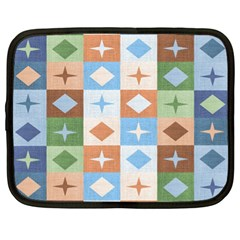 Fabric Textile Textures Cubes Netbook Case (xl)  by Amaryn4rt