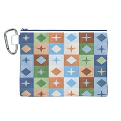Fabric Textile Textures Cubes Canvas Cosmetic Bag (l)