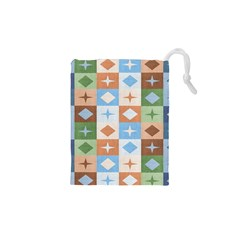 Fabric Textile Textures Cubes Drawstring Pouches (xs)  by Amaryn4rt