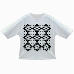 Floral Illustration Black And White Infant/toddler T Shirts