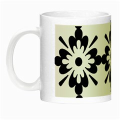 Floral Illustration Black And White Night Luminous Mugs by Amaryn4rt