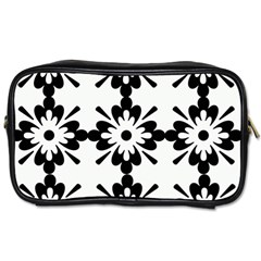 Floral Illustration Black And White Toiletries Bags by Amaryn4rt