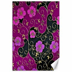 Floral Pattern Background Canvas 20  X 30   by Amaryn4rt
