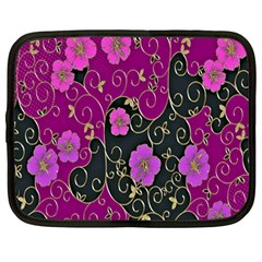 Floral Pattern Background Netbook Case (large) by Amaryn4rt