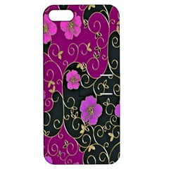 Floral Pattern Background Apple Iphone 5 Hardshell Case With Stand by Amaryn4rt