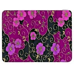 Floral Pattern Background Samsung Galaxy Tab 7  P1000 Flip Case by Amaryn4rt