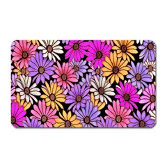 Floral Pattern Magnet (Rectangular) by Amaryn4rt