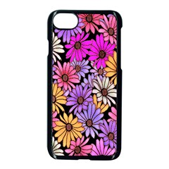 Floral Pattern Apple Iphone 7 Seamless Case (black) by Amaryn4rt