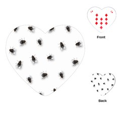 Flies Playing Cards (heart)  by Valentinaart