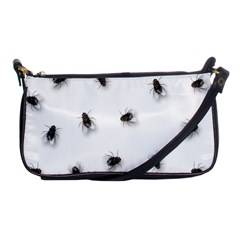 Flies Shoulder Clutch Bags by Valentinaart