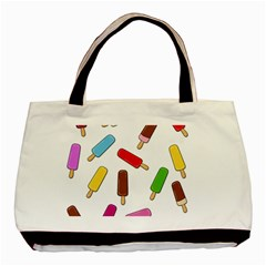 Ice Cream Pattern Basic Tote Bag by Valentinaart