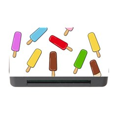 Ice Cream Pattern Memory Card Reader With Cf by Valentinaart