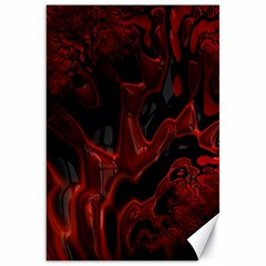 Fractal Red Black Glossy Pattern Decorative Canvas 20  X 30   by Amaryn4rt